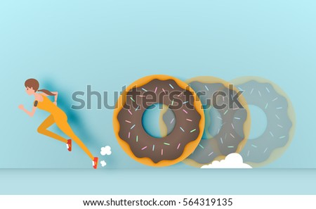 sport girl runaway from donut