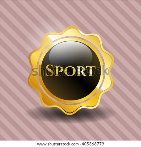 Sport gold emblem or badge
