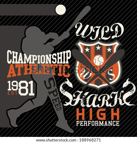 sport graphics for t-shirt and varsity