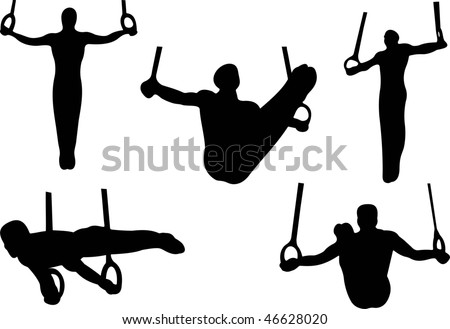 Sport gymnastics rings vector stock vector