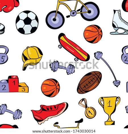 sport  health vector seamless