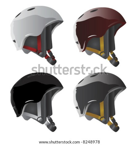 sport helmet vector - stock vector