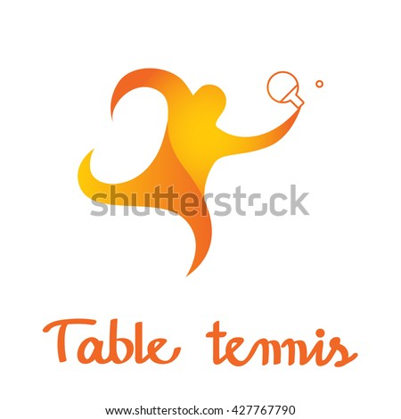sport icon logo table tennis