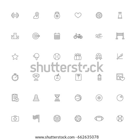 Sport icon on white background vector illustrator. #662635078