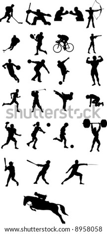 sport icon silhouette vector file