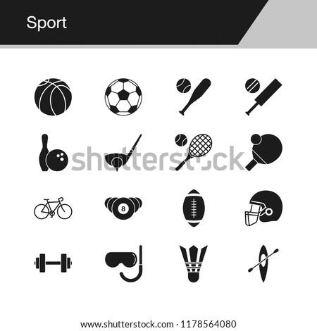 Sport icons. Design for presentation, graphic design, mobile application, web design, infographics, UI. Vector illustration.