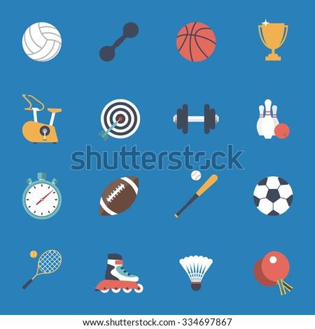 sport icons set football