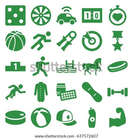 sport icons set set of 25