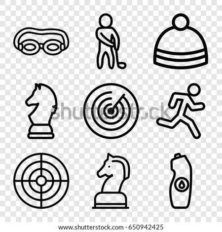 sport icons set set of 9 sport