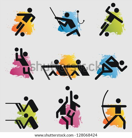 Sport icons set.Vector