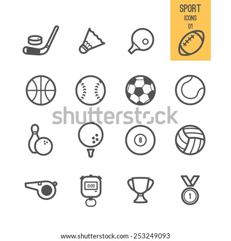 Sport icons. Vector illustration.