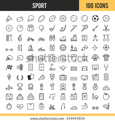 Shutterstock Sport icons. Vector illustration.