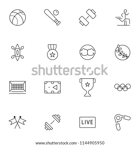 Sport icons. Vector illustration.Set of sport icons. Editable stroke.