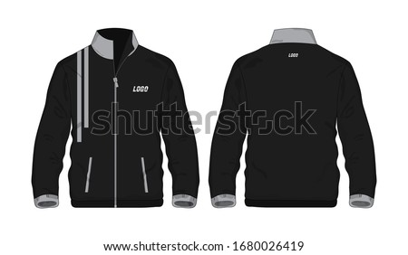 Sport Jacket Gray and black template shirt for design on white background. Vector illustration eps 10. Foto d'archivio ©