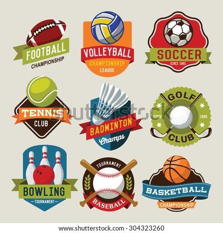 sport logotypes set sport