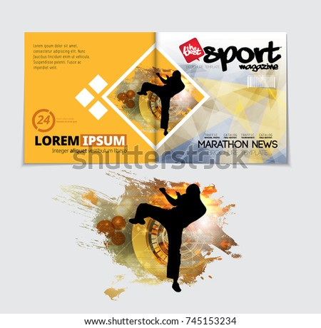 Sport Magazine Cover Vector Template