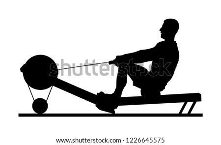 sport man doing seated cable