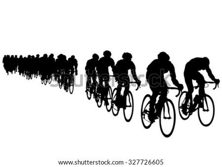sport man whit bike on white