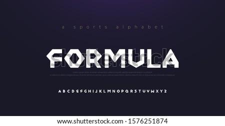 Sport Modern Alphabet Font. Typography diamond concept fonts for movie fashion formula technology, sport, racing logo design. vector illustration