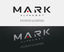 sport modern alphabet font. typography fonts  uppercase regular and italic technology concept design. vector illustration