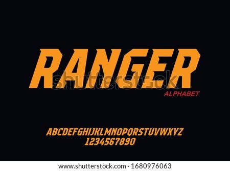 Sport Modern Alphabet Font. Typography urban style fonts for technology, digital, movie logo design. vector illustration Foto d'archivio ©