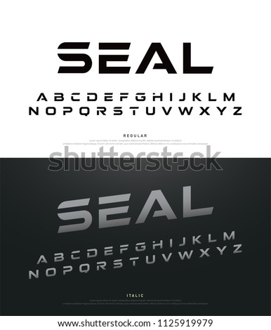 sport modern alphabet fonts and Typography font uppercase regular and italic. vector illustrator