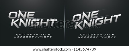 sport modern alphabet fonts. technology typography italic font uppercase. vector illustrator