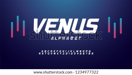 sport modern alphabet fonts. typography font  uppercase regular and italic technology concept design. vector illustration