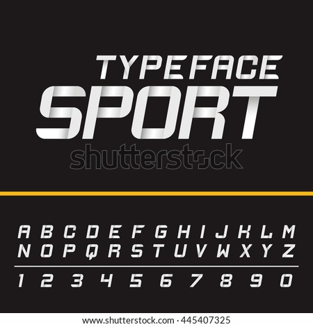Sport modern english active dynamic simple italic typeface. Capital letters and numbers. Vector typeset for headlines, labels, quotes, titles or posters. Latin alphabet letters.