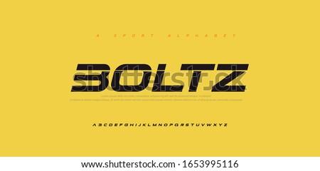Sport Modern Future Italic Alphabet Font. Typography urban style fonts for technology, digital, movie logo italic style. vector illustration Stock fotó ©
