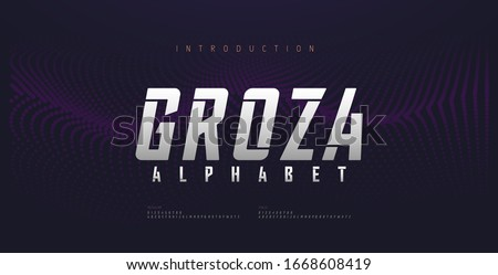 Sport Modern Future Italic Alphabet Font. Typography urban style fonts for technology, digital, movie logo italic style. vector illustration
