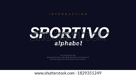 Sport Modern Italic Alphabet Font. Typography decorative fonts for movie technology, sport, motorcycle, racing logo design. vector illustration