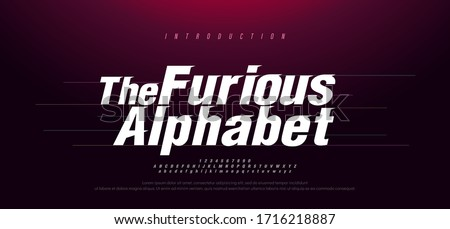 Sport Modern Italic Alphabet Font. Typography fast and furious style fonts for movie technology, sport, motorcycle, racing logo design. vector illustration