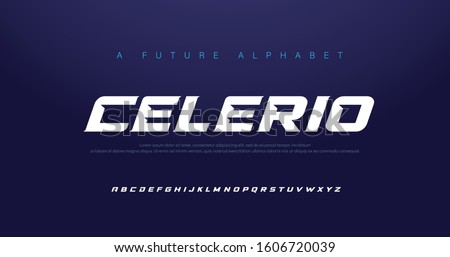 Sport Modern Italic Alphabet Font. Typography urban style fonts for technology, digital, movie logo design. vector illustration