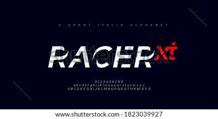 Sport modern urban italic alphabet fonts. Typography, abstract technology, fashion, digital, future creative logo font. vector illustration