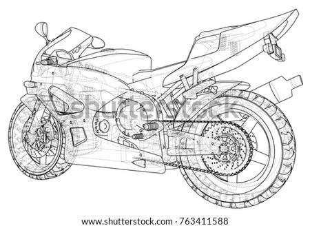 sport motorcycle technical wire