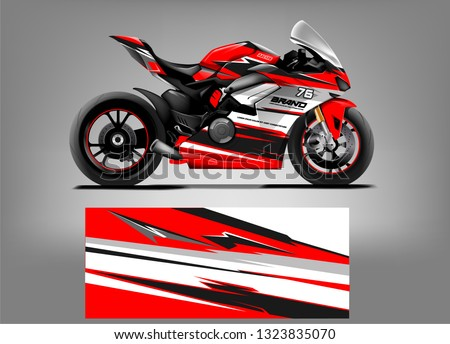 sport motorcycle wrap design
