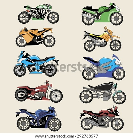 sport motorcycles image design