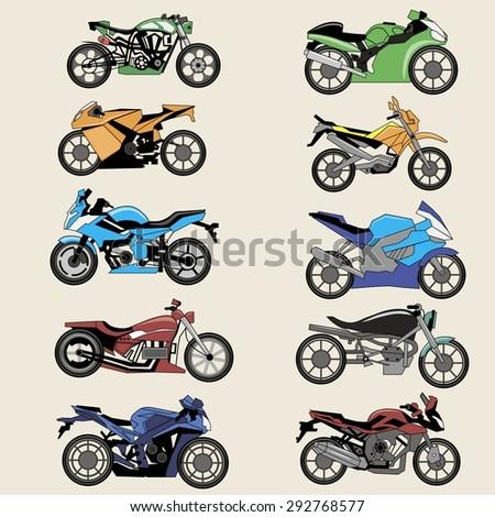 sport motorcycles image design