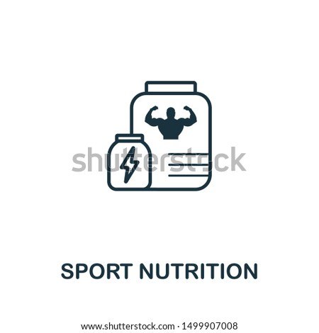 Sport Nutrition icon. Thin outline style design from fitness icons collection. Creative Sport Nutrition icon for web design, apps, software, print usage.