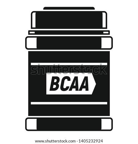 Sport nutrition jar icon. Simple illustration of sport nutrition jar vector icon for web design isolated on white background