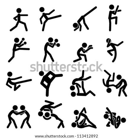sport pictogram icon set 03