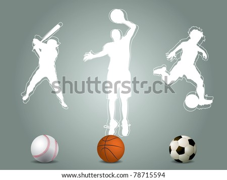 Sport player silhouette