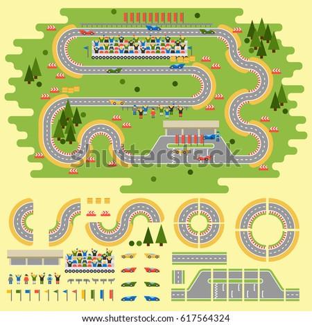 sport race track curve road