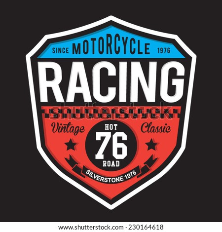 sport racing typography  t