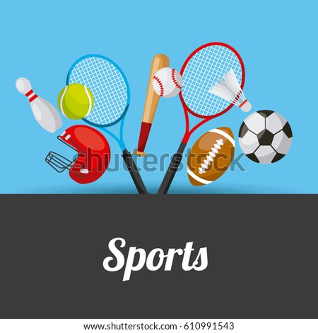 sport related icons. colorful design. vector illustration