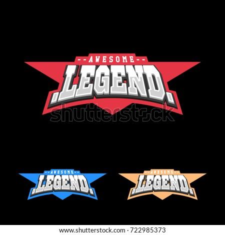 sport retro lettering oo emblem