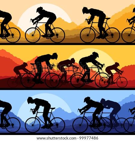 sport road bike riders and