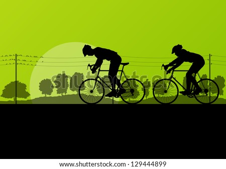 sport road bike riders and