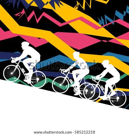 sport road bike riders bicycle